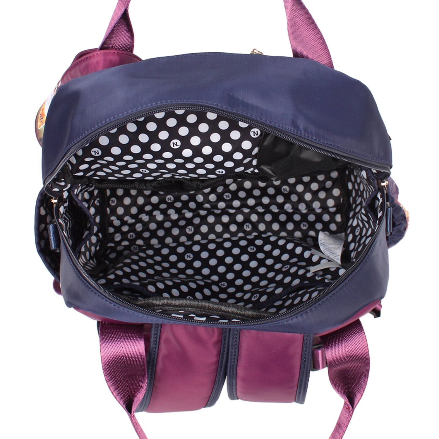 Travel Backpack Changing Mat /& Removable Pouches Nicole Lee Nicole Lee Diaper Backpack wild Eclypse