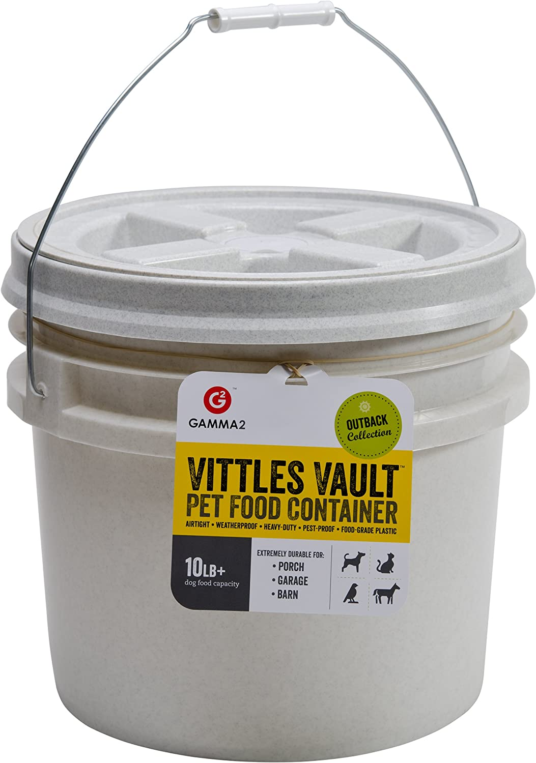 Gamma2 Vittles Vault Airtight Bucket Container for Food Storage, Food Grade and BPA Free