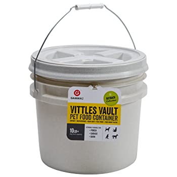 GAMMA2 Vittles Vault 10 lb Airtight Bucket Container for Food Storage, Food Grade and BPA Free