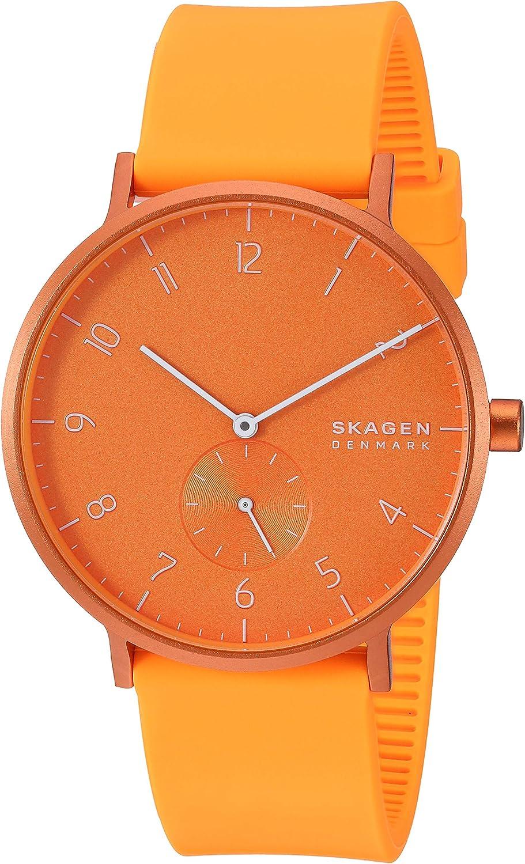 Skagen Aaren - Reloj de silicona de colores (41 mm)