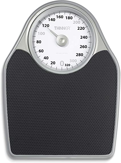Amazon Com Thinner Extra Large Dial Analog Precision Bathroom Scale Analog Bath Scale Measures Weight Up To 330 Lbs Health Personal Care
