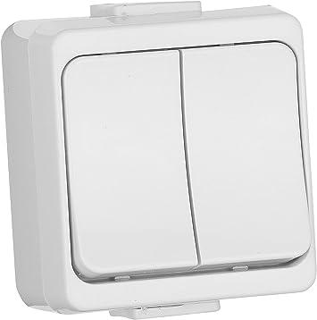 swettews – Caja para entornos húmedos enchufe Interruptor Enchufe Schuko para entornos húmedos IP44, Blanco: Amazon.es: Bricolaje y herramientas