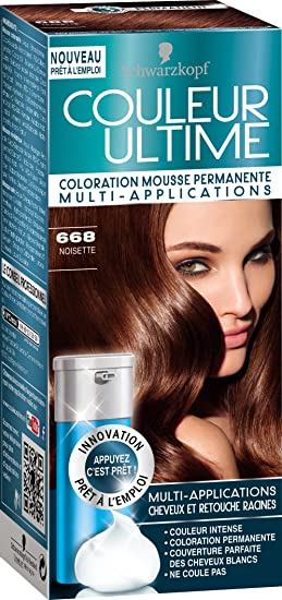 schwarzkopf couleur ultime coloration mousse permanente 668 noisette - Coloration Sans Ammoniaque Schwarzkopf