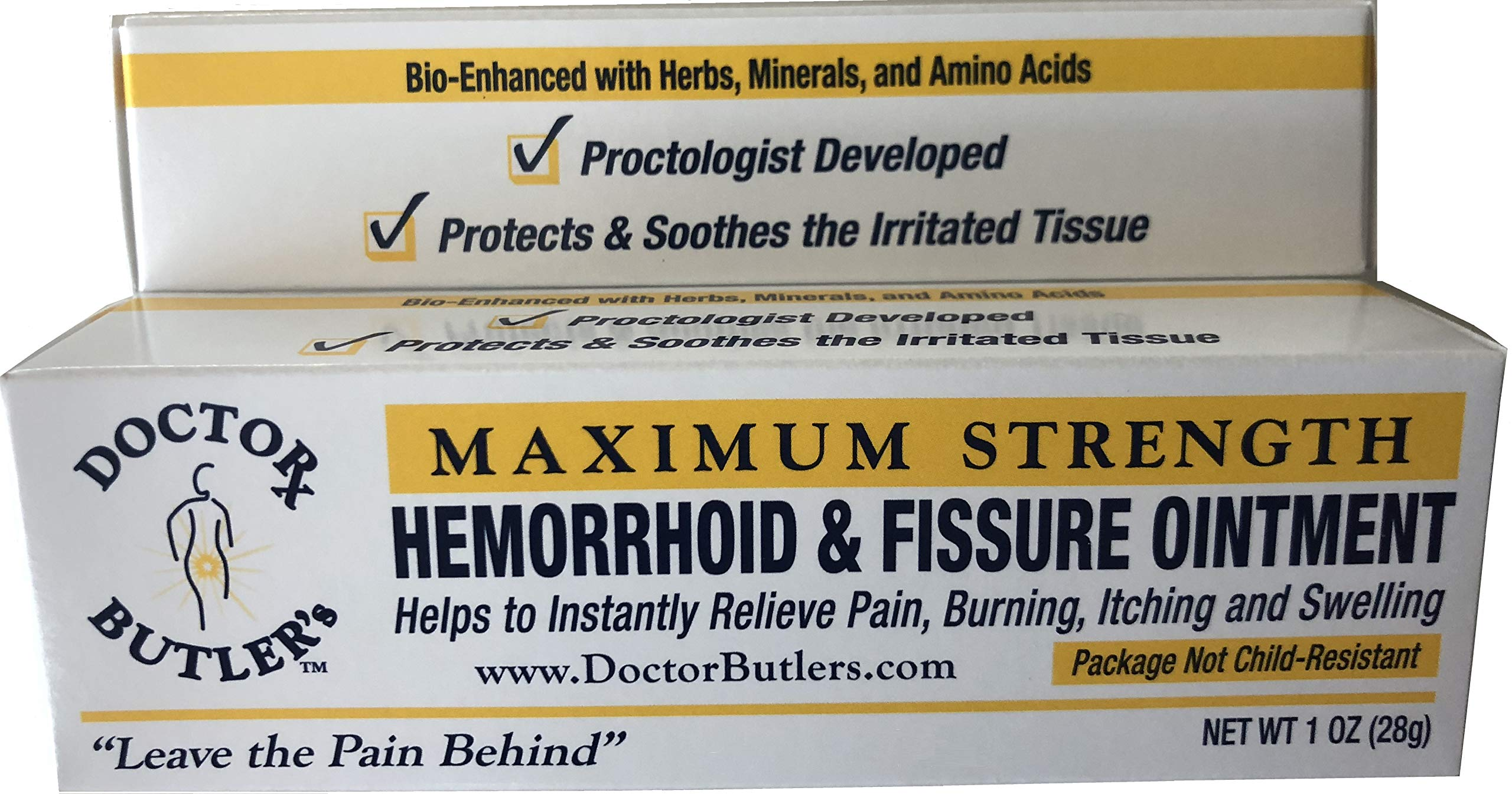 Doctor Butler's Hemorrhoid & Fissure Ointment...FDA Approved Relief & Healing Formula (also contains Organic Herbs, Minerals and Amino Acids) by Doctor Butler's