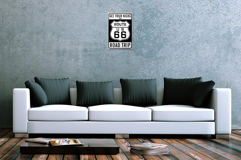 Amazon.com: Cartel de chapa Gira Mundial Ruta 66 EE. UU ...