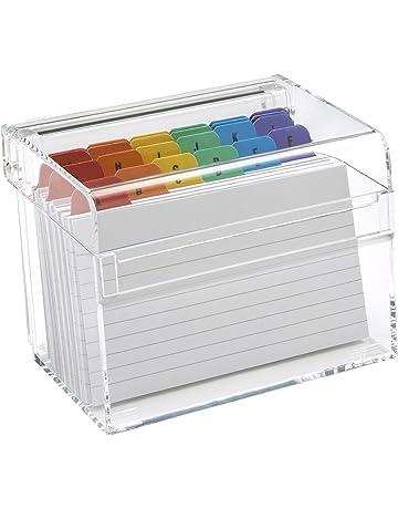 Osco - Caja de Índices adhesivos, transparente - kit con 25 indices A hasta Z