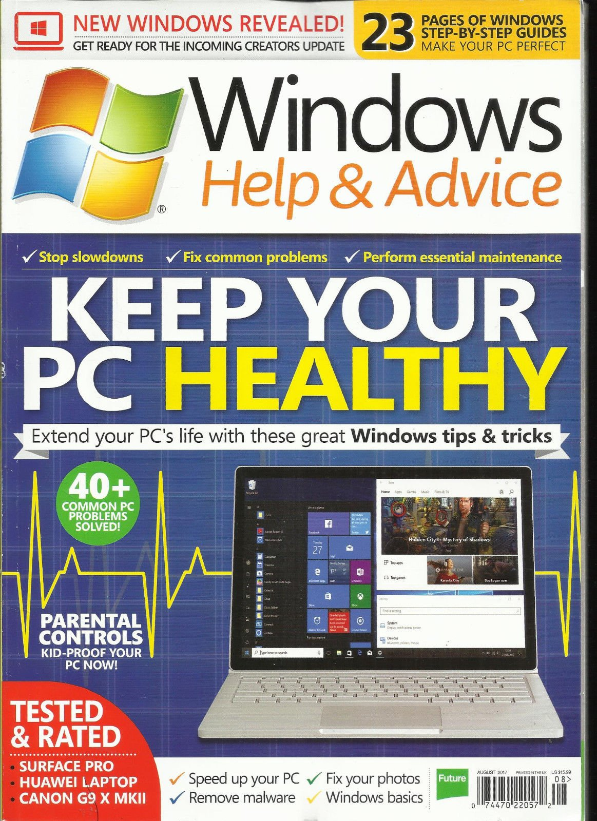 WINDOWS HELP & ADVICE MAGAZINE, AUGUST 2017 ISSUE, 138 PRINTED IN UK