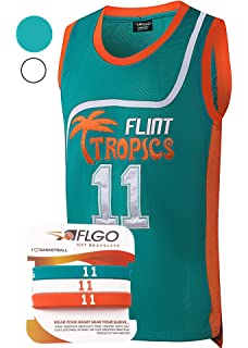 Amazon.com: AFLGO #7 Flint Tropics Camiseta de baloncesto ...