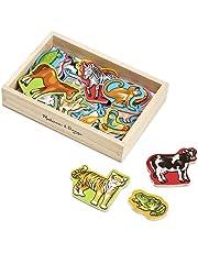 Melissa & Doug Wooden Animal Magnets, Developmental Toys, Wooden Storage Case, 20 Animal-Inspired Magnets, 20.32 cm H x13.97 cm W x 5.08 cm
