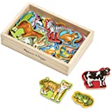 Melissa & Doug 475 Magnetic Wooden Animals,Multicolour