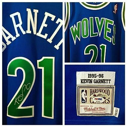 promo code 523a0 085db Kevin Garnett Autographed Signed Memorabilia Wolves ...