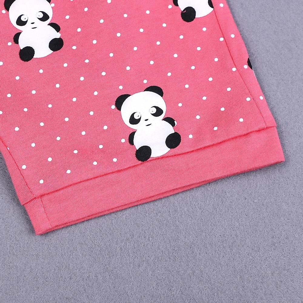Cute Cartoon Panda Nightgown,Kids Boys Summer Outfits,Little Girls Pajama Set Tee Tops Shorts
