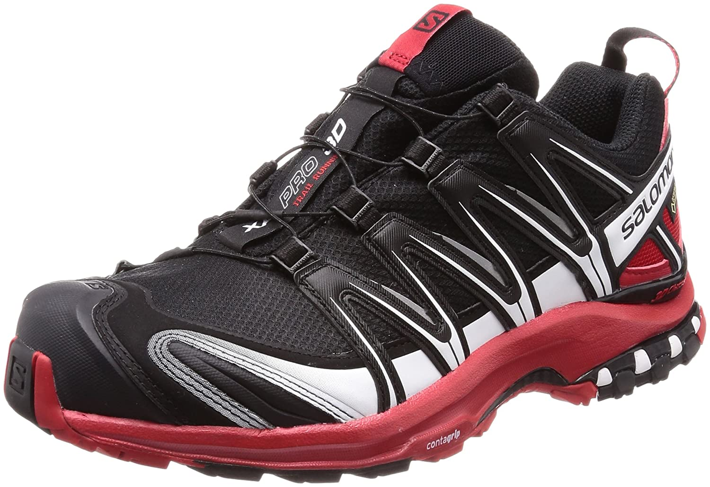 [サロモン] SALOMON トレッキングシューズ XA PRO 3D ゴアテックス 防水 登山靴 B073S6XJ98 25.5 cm ブラック/ レッド