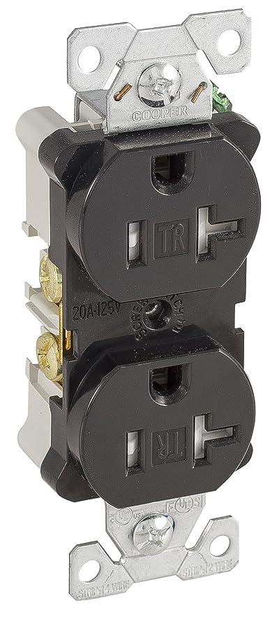 Eaton TRBR20BKBXSP 20-Amp 3-Wire 125-Volt Tamper Resistant ...