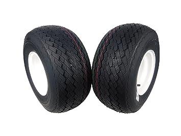 Amazon.com: MASSFX Rueda y neumático de carrito de golf 18 x ...