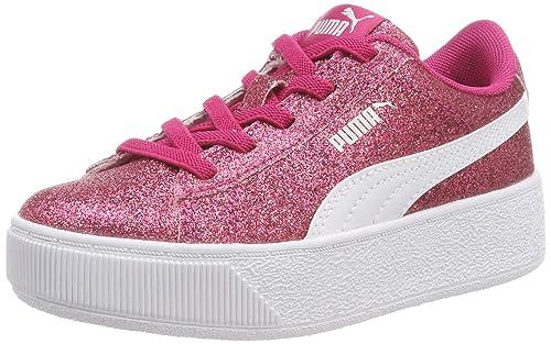 Puma Vikky Platform Glitz AC PS, Zapatillas para Niñas: Amazon.es: Zapatos y complementos