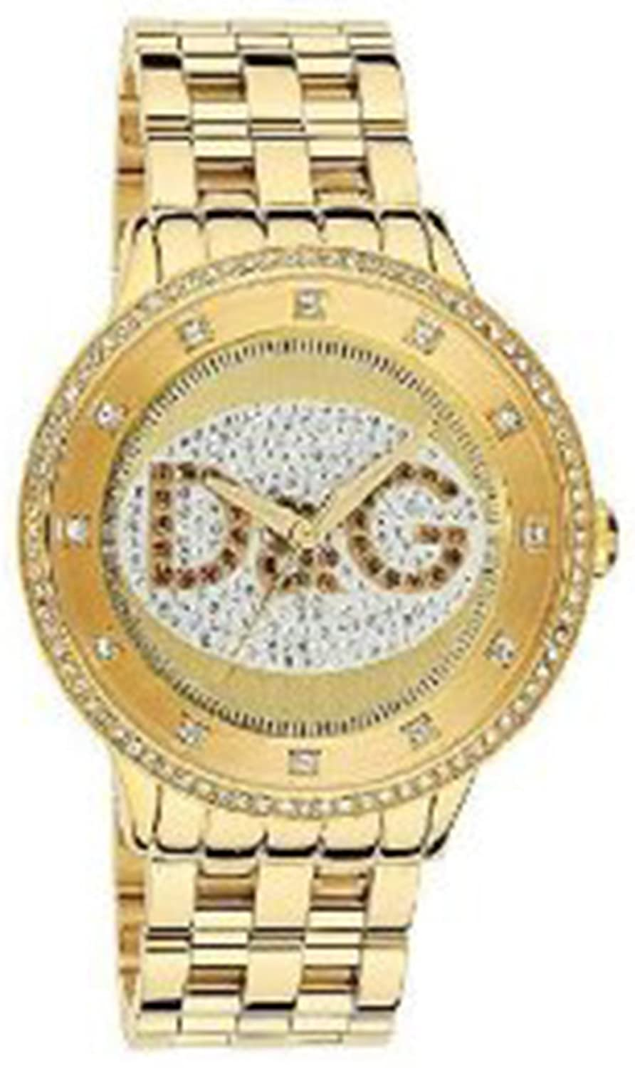 D&G DW0379 Watch Prime Time Big IPG Gold Dial With Brown Logo: Dolce &  Gabbana: Amazon.co.uk: Watches