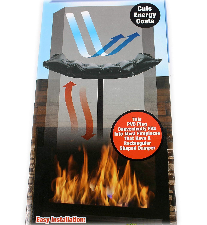 Fireplace Chimney Draft Blocker Balloon Inflatable Insulate Flue 43' x 21' Eco Techno