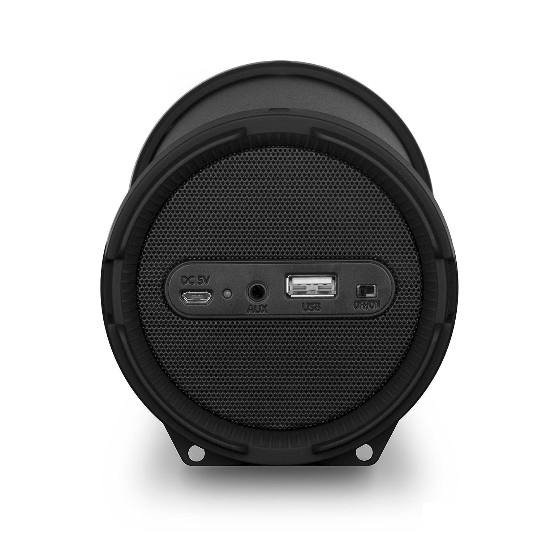 10 W, Inal/ámbrico y al/ámbrico, Bluetooth//USB, Negro, Tubo, Tableta Altavoces port/átiles NGS Roller Flow Mini 10W Negro