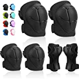 Kids Protective Gears SKL Knee Pads for Kids Knee and Elbow Pads with Wrist Guards 3 in 1 for Skating Cycling Bike…