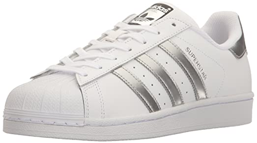 adidas originals superstar white and silver