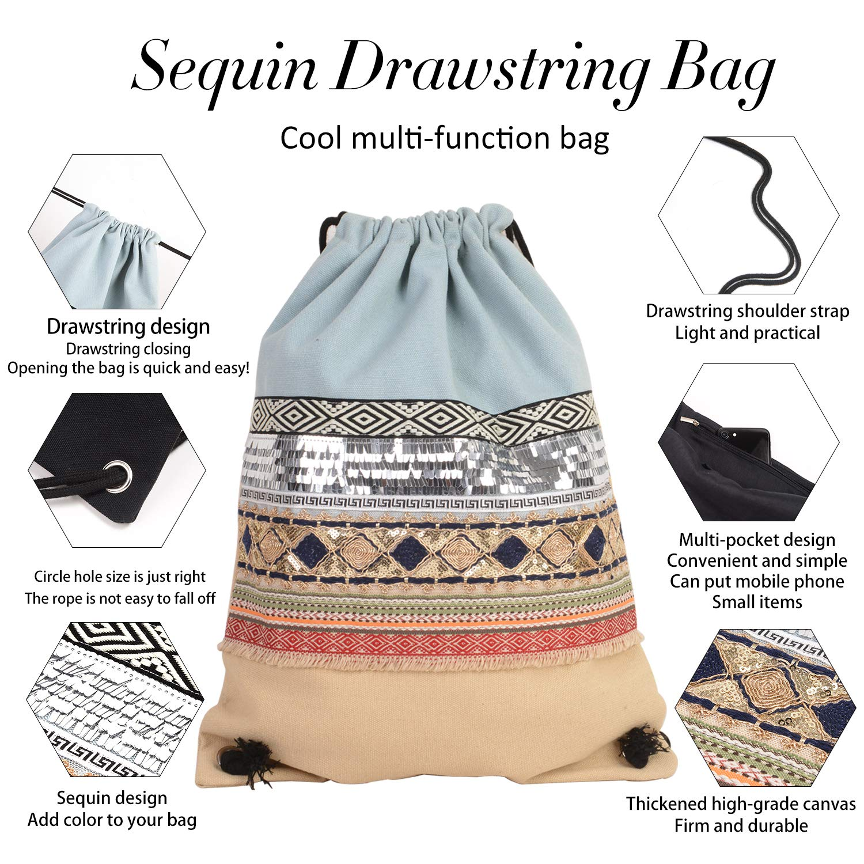 f0a09109ae5f Folding Waterproof Drawstring Backpack gym Sack Cinch Bags for Shopping  Sport Yoga