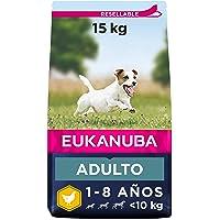 Eukanuba Alimento seco para perros adultos activos de raza pequeña, rico en pollo fresco 15 kg