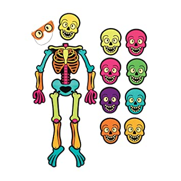 Amazon.com: Spookadelic Pin the Skull on the Skeleton Game: Health ...