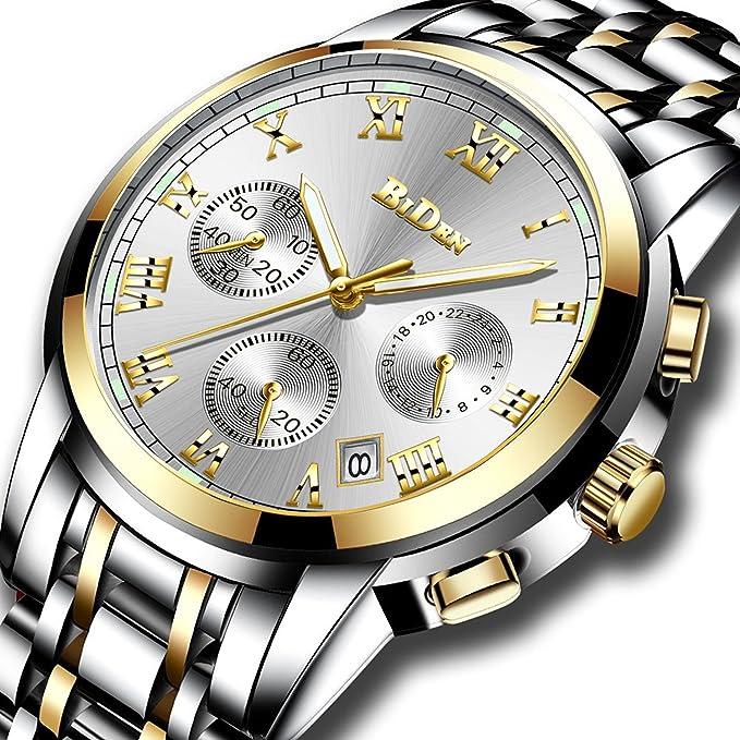 Lässig Edelstahl Analog Männlich Uhren Männer Luxus Uhr Geschäft Wasserdicht Kalender Multifunktio Datum Armbanduhr Quarz Herren Chronograph 1J3TcFKl