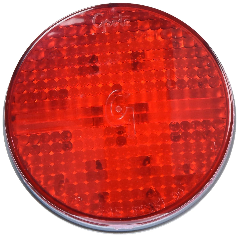 Grote 54562 SuperNova 4 Full-Pattern LED Stop Tail Turn Light Hard Shell Connecter, Grommet Mount