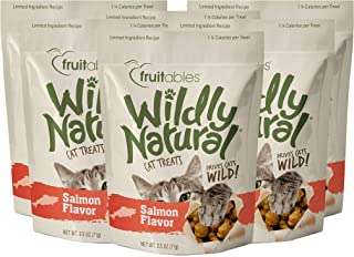 product image for Fruitables Wildly Natural 2.5 Ounce Grain Free Salmon Treats for Cats Pack of 6