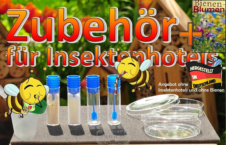 mit gro/ßem Zubeh/örset BTV XXL 100 cm Bienentr/änke Bienenfutterstation f/ür Wildbienen Hummeln Schmetterlinge schwarz anthrazit dunkelgrau Anleitung