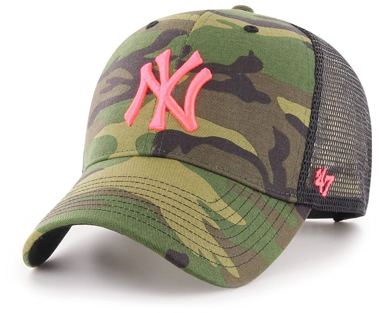 Amazon.com    47 Brand Trucker Cap - Branson NY Yankees Wood camo   Sports    Outdoors f3c3f4de7bf