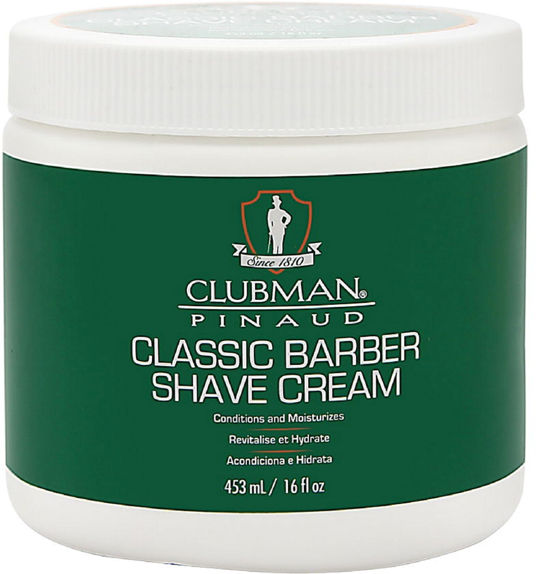 Clubman Pinaud Classic Barber Shave Cream 16 oz (Pack of 12) by Clubman