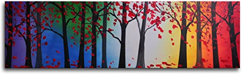 MyArtOutlet Hand Painted Trees Hold Hands Canvas Wall Art