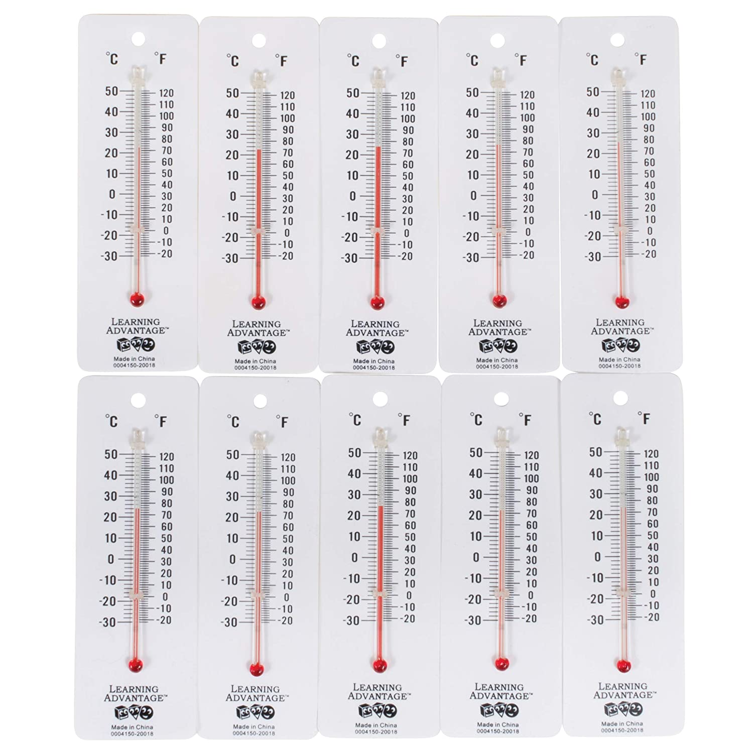 Learning Advantage Student Thermometers, Pack of 10