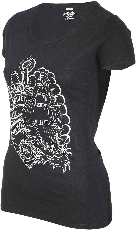 Küstenluder Damen Oberteil Please Guide Me Home Anker Shirt: Amazon.de:  Bekleidung