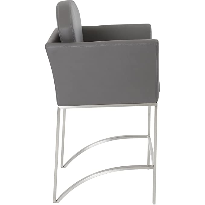 Phenomenal Enzo Grey Stationary Counter Height Stool Amazon Ca Home Caraccident5 Cool Chair Designs And Ideas Caraccident5Info