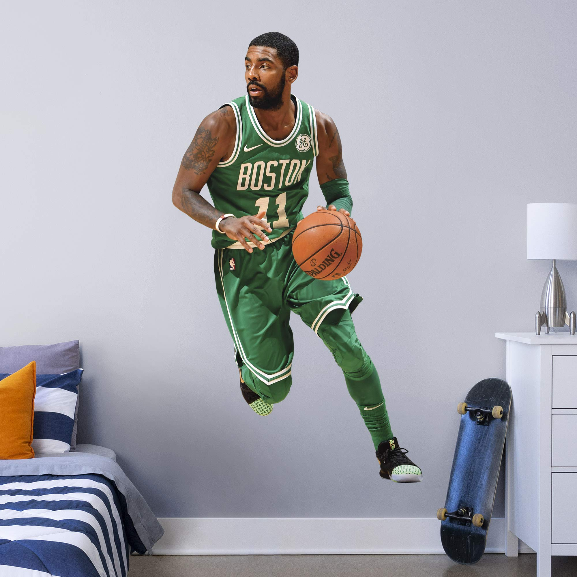 Fathead NBA Boston Celtics Kyrie Irving Kyrie Irving- Officially Licensed Removable Wall Decal, Multicolor, Life-Size - 1900-00305-002 by FATHEAD