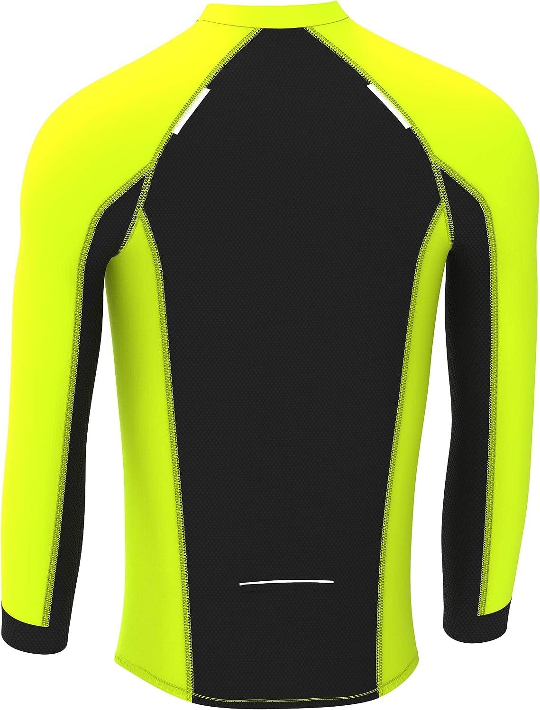 Deportes Hera Ropa Ciclismo Maillot Windstopper t/érmico Camiseta Corta Viento de Ciclistas Maillot Mangas largas