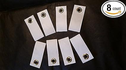 """8/"""" Super Duty strength Peel /& Stick Grommet Tabs for Tyvek Tarps /& Tents 4 PK"""
