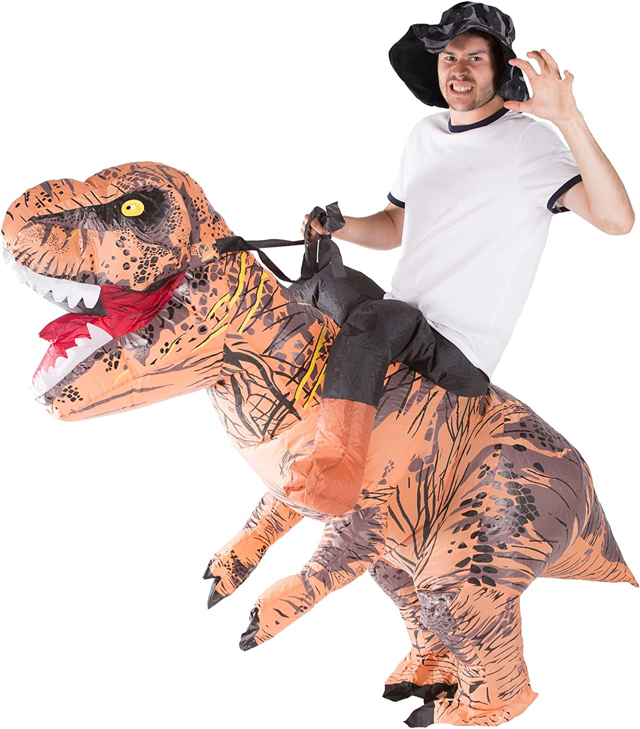 Bodysocks Adult Inflatable Deluxe Dinosaur Fancy Dress Costume