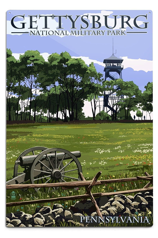 ゲティスバーグ、ペンシルベニア州 – Battlefieldタワー 12 x 18 Metal Sign LANT-45040-12x18M B06Y1FF4FN 12 x 18 Metal Sign12 x 18 Metal Sign
