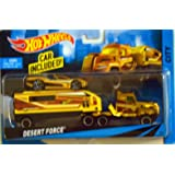 Hot Wheels City Rig Desert Force - Car with Transporter