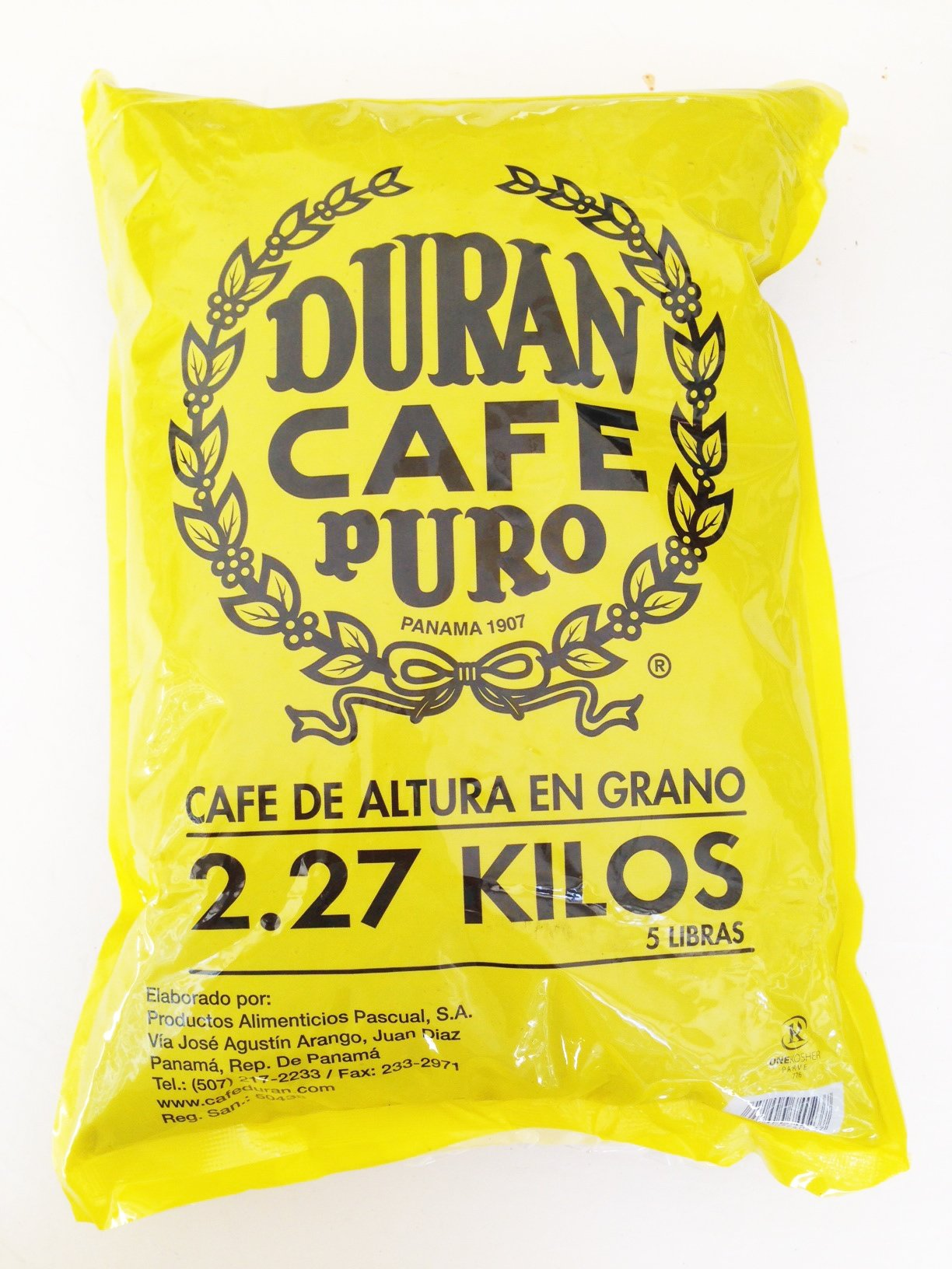 Cafe Duran Best Panama Coffee Highest Quality Whole Roasted Beans Coffee Duran 2.27kg (5 Pounds) Whole Bean Coffee by Cafe Duran (Image #1)