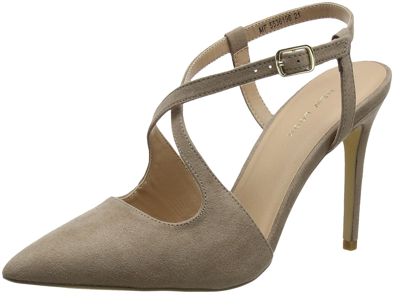 New Look Torrential, Zapatos de Tacón con Punta Cerrada para Mujer