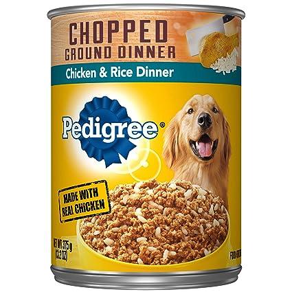 amazon com pedigree chopped ground dinner chicken rice dinner