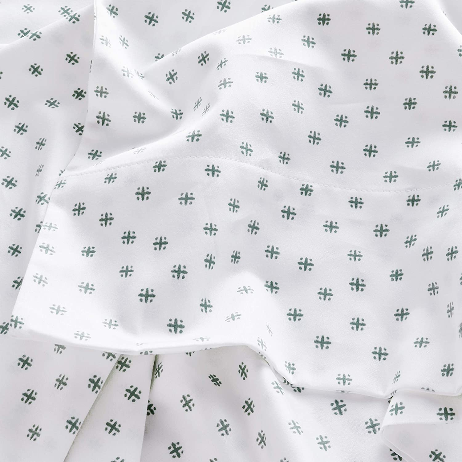 Stone /& Beam Starburst 100/% Cotton Sateen Pillowcase Set King Set of 2 Oasis