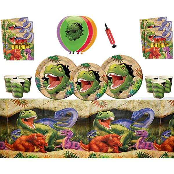 ASIN Artículos para fiestas de dinosaurios Celebraciones de ...