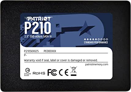 "Patriot P210 SATA 3 512GB Computer Data Storage Internal Solid State Drive 2.5"" SSD- P210S512G25"